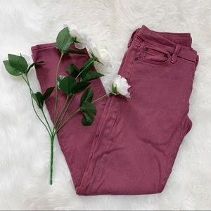 MOTHER The Looker Burgundy Red Jeans